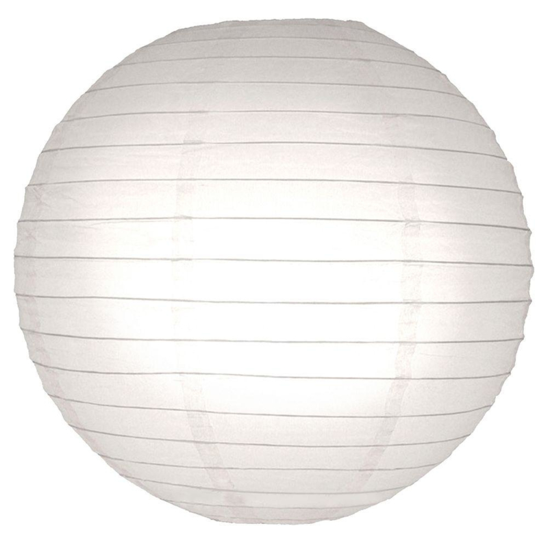 5 x Brandvertragende lampion wit 75 cm