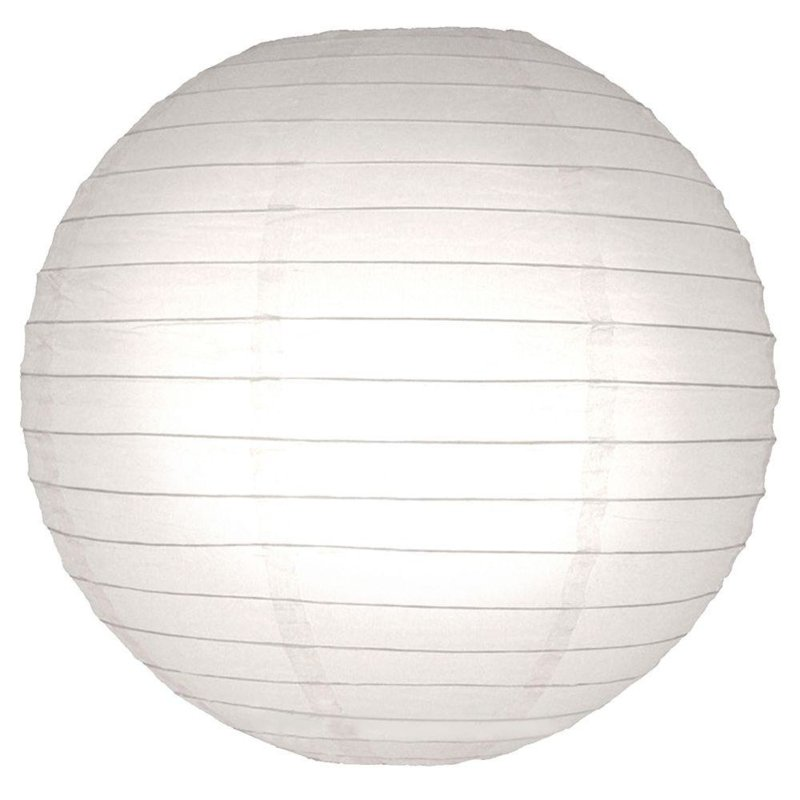 10 x Brandvertragende lampion wit 45 cm