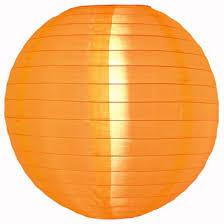 5 x Nylon lampion oranje 25 cm