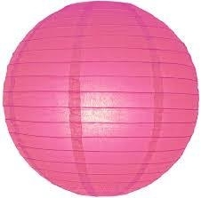 Lampion fuchsia roze 25 cm
