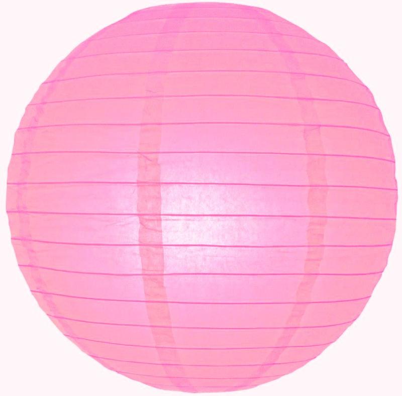 5 stuks lampion roze 35 cm