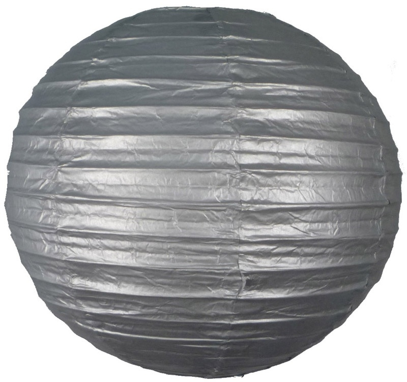 Lampion zilver 25 cm