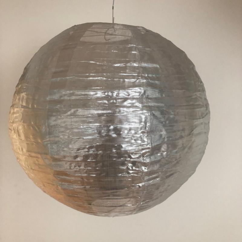 Nylon lampion zilver 45 cm