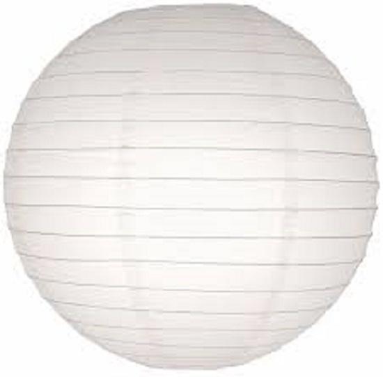 5 stuks witte lampion 35 cm