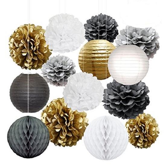Combinatie pakket PARTY - wit - zilver - goud - zwart