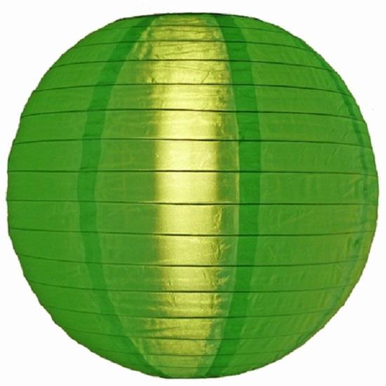 5 stuks Nylon lampion groen 35 cm