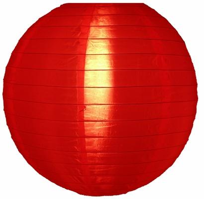 5 x Nylon lampion rood 45 cm