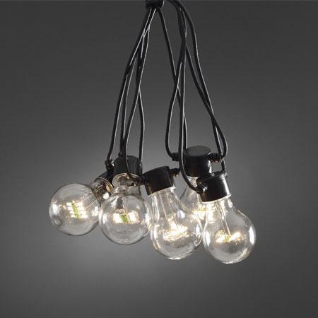 Verlengset LED lichtslinger - warm wit - 10 meter