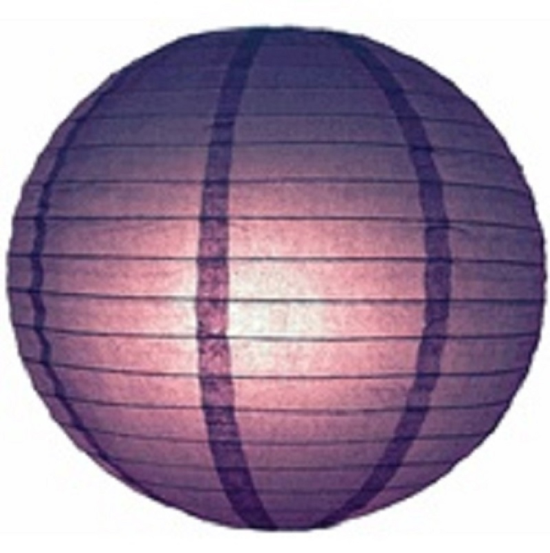 Lampion paars 25 cm