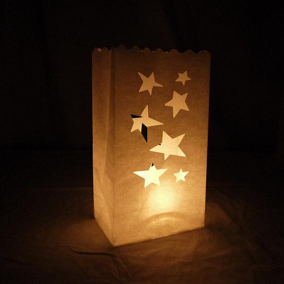 Candlebag ster - 10 stuks