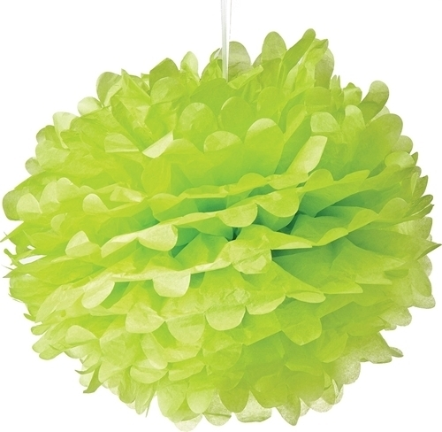 Pompon vert clair 35 cm