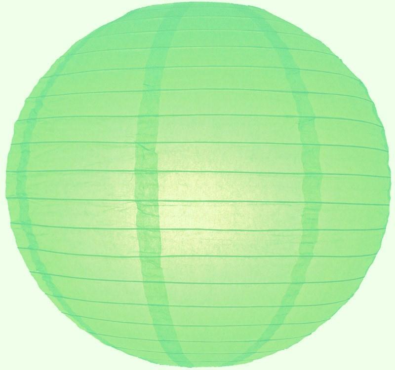 5 x Lampion licht groen (kleur 1) 45 cm