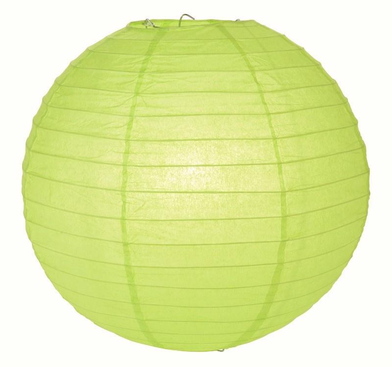 5 stuks Lampion licht groen (kleur 2) 35 cm
