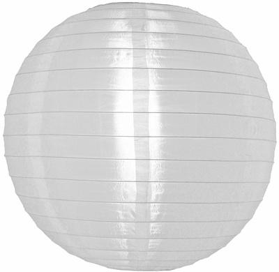 Lampion blanc de nylon 35 cm - 10 pièces