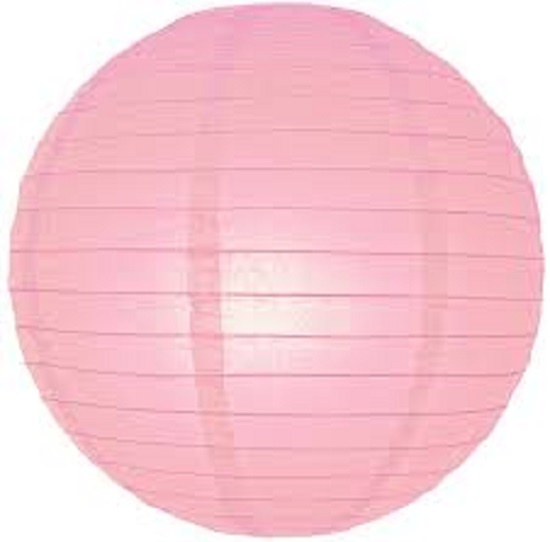 5 x Lampion licht roze 45 cm