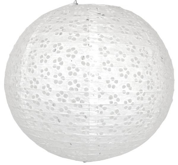 5 x Eyelet lampion wit 35 cm
