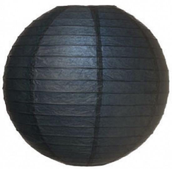 Lampion zwart 25 cm