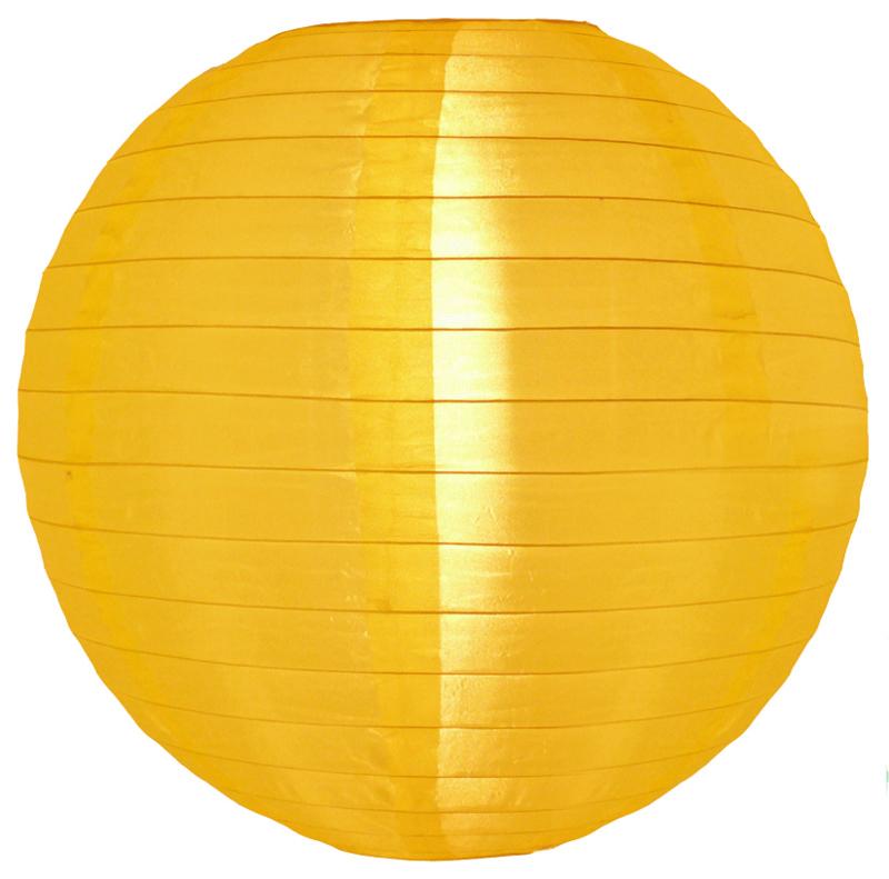 5 stuks Nylon lampion geel 35 cm
