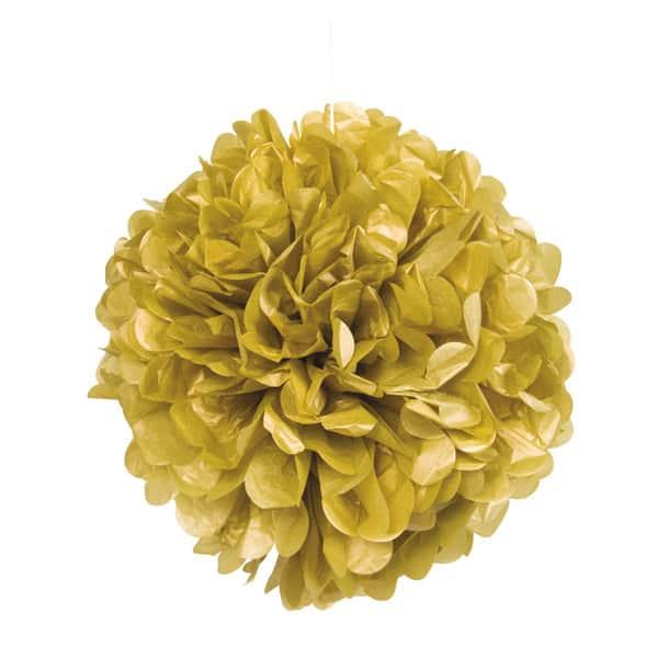 5 x Gouden PomPom 35 cm