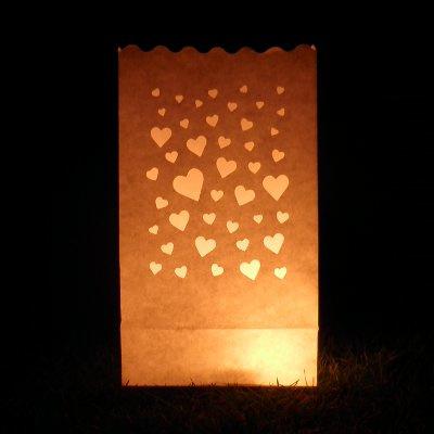 Candlebag hart - 10 stuks