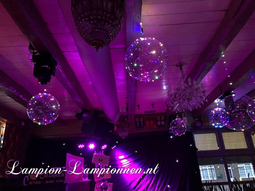 LED Ballon XL aan plafond, verlichte helium ballon, balon met lampje, feest ballon, led unit ballon huwelijk decoratie eventversiering, goedkope led ballon, party deco deko veren erleuchtet bobo balloon neon sweet 16 18 21 44 3