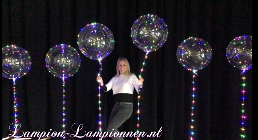LED-Ballon XXL 60 cm, super großer LED-Leuchtballon mit LED-Leuchten und Helium, schwimmender Ballon 5 Supergrosse LED-Leuchten und Helium, Schwimmballon, Supergrosse LED-Leuchte mit LED und Helium, Ballonflottant 3