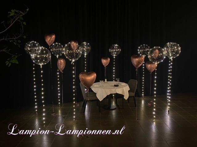 LED-Ballon warmweiß bei Heiratsantrag, beleuchteter Heliumballon, Ballon mit Licht, Partyballon, LED-Einheit Ballon Hochzeitsdekoration Ereignisdekoration, Partydeko, LED Bunte Lichterkette Leuchten LuftBallon warmweiß
