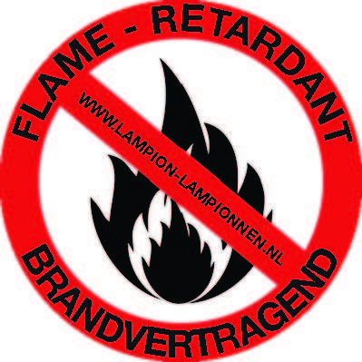 brand vertragende lampion