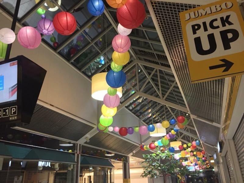 Laterne im Einkaufszentrum, Pendel der Einkaufsstraße 2