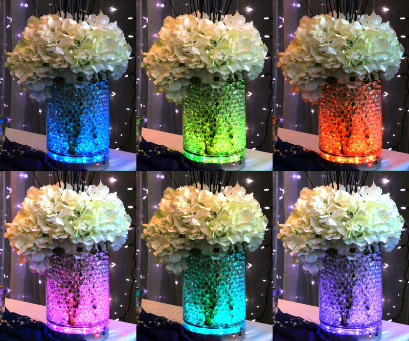 led decoratie onder vaas