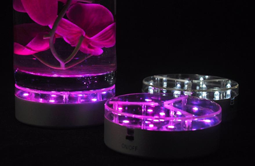 led lamp onder vaas