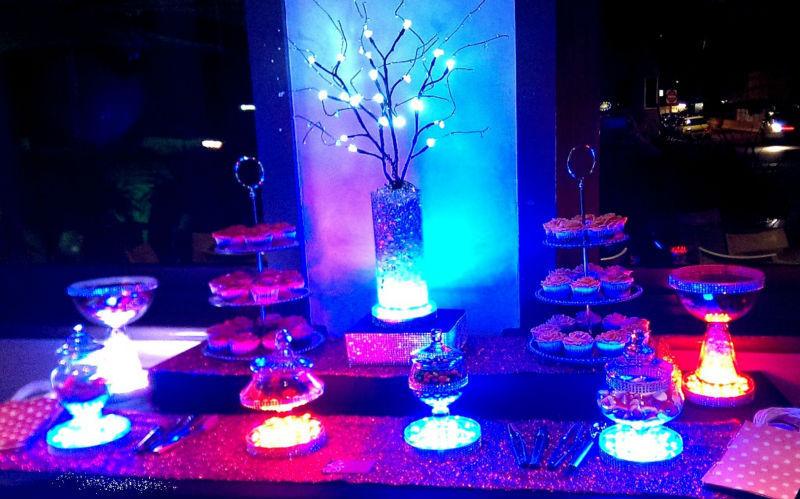 led tafel decoratie multicolor rgb