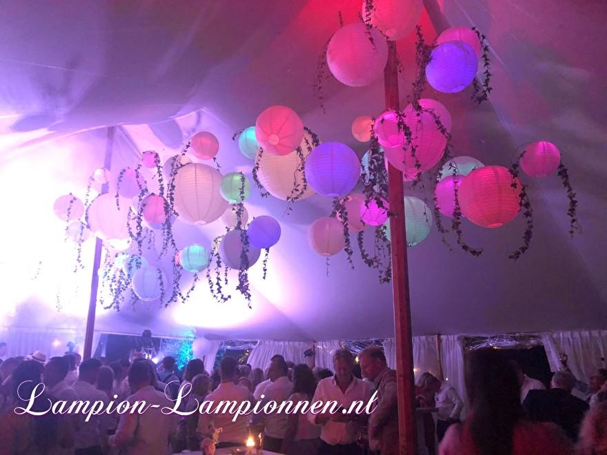 weiße Laternen im italienischen Stil Hochzeitskirche fahren, weiße Lampions mit LED bei Hochzeit Hochzeit Zelt Party Hochzeit Blanc Laternen, große Lampion 3