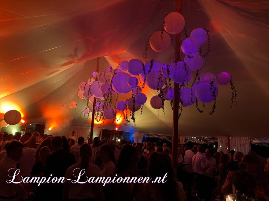 weiße Laternen im italienischen Stil Hochzeitskirche fahren, weiße Lampions mit LED bei Hochzeit Hochzeit Zelt Party Hochzeit Blanc Laternen, große Lampion 5