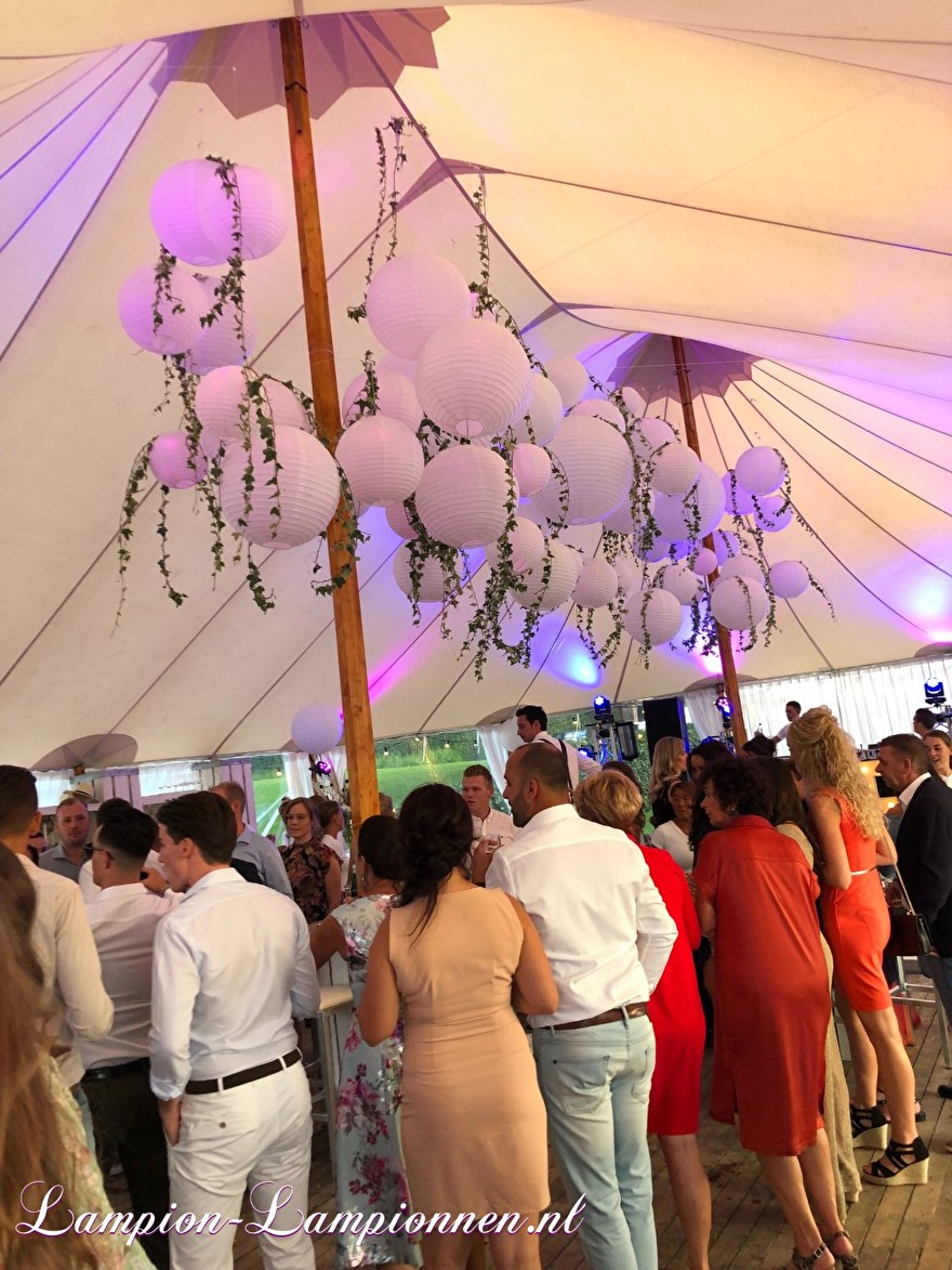 weiße Laternen im italienischen Stil Hochzeitskirche fahren, weiße Lampions mit LED bei Hochzeit Hochzeit Zelt Party Hochzeit Blanc Laternen, große Lampion