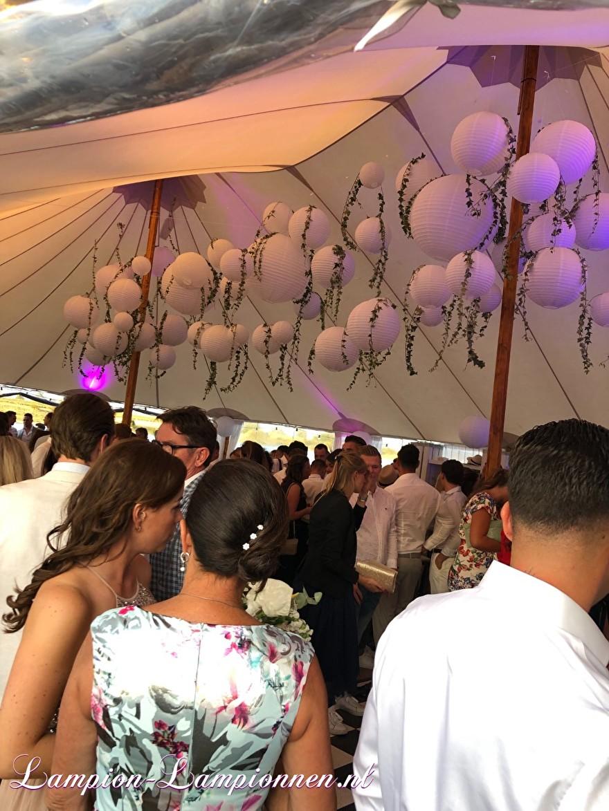 weiße Laternen im italienischen Stil Hochzeitskirche fahren, weiße Lampions mit LED bei Hochzeit Hochzeit Zelt Party Hochzeit Blanc Laternen, große Lampion 2