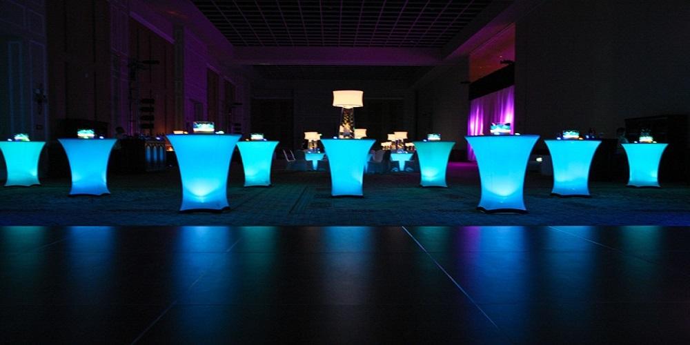 lamp onder tafel rok statafel event