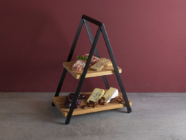 Gusta  2 laags etagere Bamboe