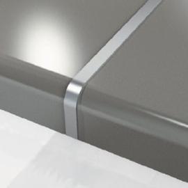 Aluminium verbindingsprofiel voor werkbladen 28mm