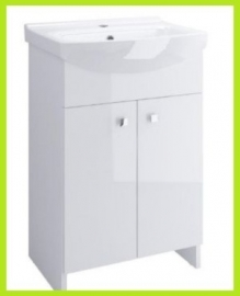 Badkamermeubel  hoogglans wit 50cm