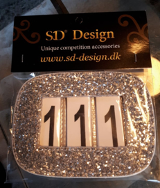 SD® GLITTER NUMBERS HOLDER SILVER