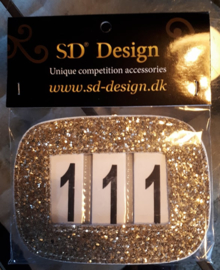 SD® GLITTER NUMBERS HOLDER GOLD