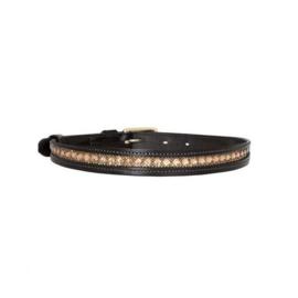 SD® AZZARO BELT. BLACK/GOLD. 95 cm