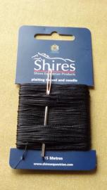 Vlechtgaren Shires 15 meter kleur zwart