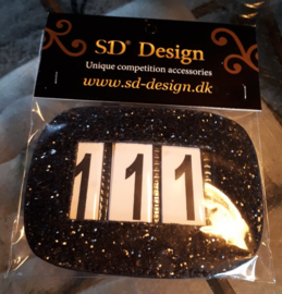 SD® GLITTER NUMBERS HOLDER BLACK