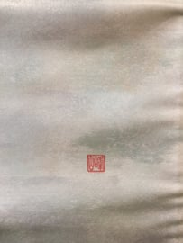 "Puur zijden orginele geisha obi (centuur)  ""Rising Sun behind the mountains """