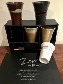 """Thee / koffie kommen Japans porselein SET """"Zen"""""""