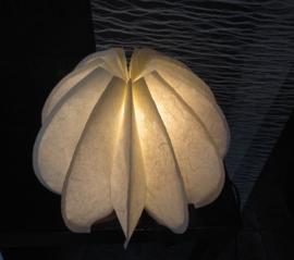 """lamp Japonais """"lotus"""" deze lamp kunt u op 2 verschillende manieren omvouwen als gesloten,of open lotus."""
