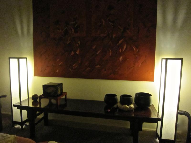 Japanse vloer lamp hout met verstevigd Japans papier H.120 cm