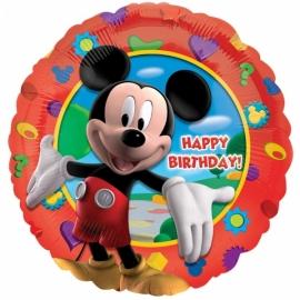 Disney Mickey Mouse happy birthday folieballon ø 43 cm.